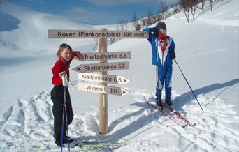 Kvæfjordløyper - cross country skiing